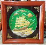 Tranh đồng Thuyền Buồm Ra Khơi -A209