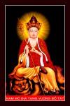 Phật Địa Tạng Bồ Tát 022 (Laminater gỗ đổ bóng)