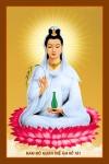 Phật Quán Thế Âm 028 (Laminater gỗ đổ bóng)