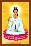 Phật Quán Thế Âm 028B (Laminater gỗ đổ bóng)