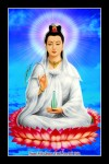 Phật Quán Thế Âm 028D (Laminater gỗ đổ bóng)