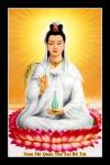 Phật Quán Thế Âm 028E (Laminater gỗ đổ bóng)