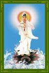 Phật Quán Thế Âm 030 (Laminater gỗ đổ bóng)