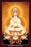 Phật Quán Thế Âm 034 (in dầu ép foamex)