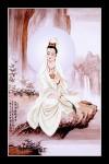 Phật Quán Thế Âm 035 (Laminater gỗ đổ bóng)