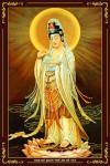 Phật Quán Thế Âm 036 (Laminater gỗ đổ bóng)