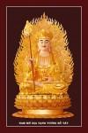 Phật Địa Tạng Bồ Tát 045 (Laminater gỗ đổ bóng)