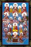 Phật Tam Thánh 051 (Tranh ép gỗ đổ bóng)