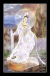 Phật Quán Thế Âm 075 (Laminater gỗ đổ bóng)