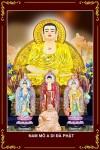 Phật Tam Thánh 095 (Tranh ép gỗ đổ bóng)