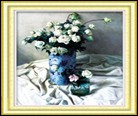 Bình hoa hồng trắng 5D132
