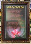 Tranh in dầu kts -14D điều dạy của đức phật