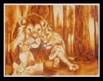 Tranh gạo sư tử