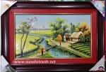Tranh vẽ đồng quê – gốm sứ g147A