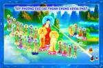 Phật Tam Thánh 175C (Tranh ép gỗ đổ bóng)