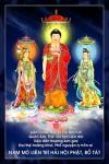 Phật Tam Thánh 176 (Tranh ép gỗ đổ bóng)