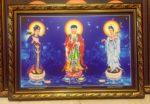 Phật Tam Thánh -180 ( in dầu ép foam )