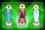 Phật Tam Thánh 185 (Tranh ép gỗ đổ bóng)