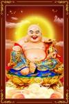 Phật Di Lặc 189 (Laminater gỗ đổ bóng)
