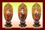Phật Tam Thánh 192 (Tranh ép gỗ đổ bóng)