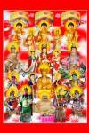 Phật Tam Thánh 193 (Tranh ép gỗ đổ bóng)