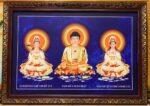 Phật Tam Thánh-199 (tranh in dầu )