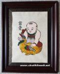 Tranh Đông Hồ – Phú Quý – em bé ôm vịt-TDH08