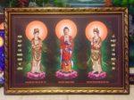 Phật Tam Thánh 202 ( tranh in dầu cao cấp )