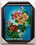 Sơn mài nghệ thuật hoa mẫu đơn-sm203A