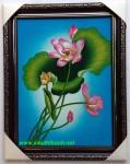 Tranh sơn mài nghệ thuật Hoa sen-sm204A