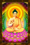 Phật Thích Ca 206 (ép laminater đổ bóng)