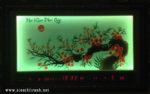 Tranh thêu đèn led đồng hồ, Mai khai phú quý- 2068