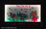 Tranh thêu đèn led đồng hồ,  Phú Quý Vinh Hoa -2069