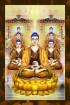 Phật Tam Thánh 207 (ép laminater đổ bóng)
