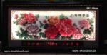Tranh thêu chữ thập lịch vạn niên, Hoa mẫu đơn -2077