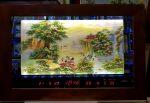 Tranh gắn đá đèn led lịch vạn niên- Sơn Thủy Hữu Tình -2086