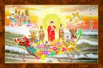 Phật Tam Thánh 231 (ép laminater đổ bóng)