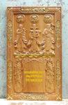 Tranh gỗ gõ đỏ điêu khắc Phước Lộc Thọ -TG247A