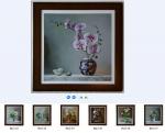 27 mẫu tranh in dầu nghệ thuật về hoa -IN12