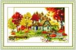 Tranh thêu chữ thập , mùa thu – EF056