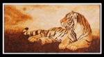 Tranh gạo Hổ nằm