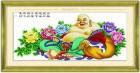 """Tranh thêu chữ thập"""" Phật di lặc """"(in100%)"""