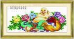 Tranh thêu chữ thập, Phật di lặc -EG014