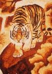 Tranh gạo Hổ đơn độc