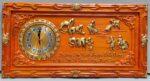 Tranh gỗ hương đỏ đồng hồ thư pháp Cha Mẹ – 4205