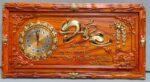 Tranh gỗ hương đồng hồ thư pháp chữ Đức – 4208