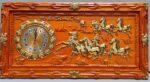 Tranh gỗ hương đỏ đồng hồ mã đáo – 4209