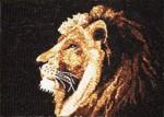 Tranh gạo Mặt sư tử