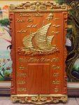 Đốc lịch gỗ hương đỏ, Thuyền buồm – 4704
