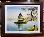 Tranh sứ ,Hồ Gươm -G159